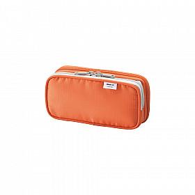 LIHIT LAB Smart Fit Double Pen Case Pen Etui - Klein - Oranje