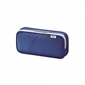 LIHIT LAB Smart Fit Double Pen Case Pen Etui - Groot - Blauw