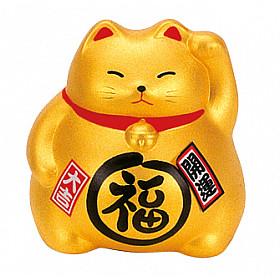 Japanse Lucky Cat - 9 cm - Goud