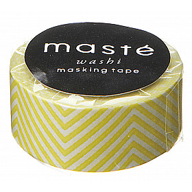 Mark's Japan Maste Washi Masking Tape - Zig Zag Yellow