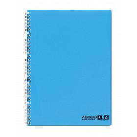 Maruman Sept Couleur Notebook - A4 - Gelinieerd - 80 pagina's - Lichtblauw (Japan)