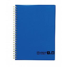 Maruman Sept Couleur Notebook - A5 - Gelinieerd - 80 pagina's - Blauw (Japan)