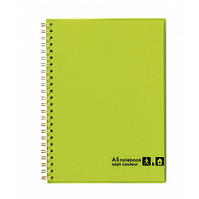 Maruman Sept Couleur Notebook - A5 - Gelinieerd - 80 pagina's - Groen (Japan)