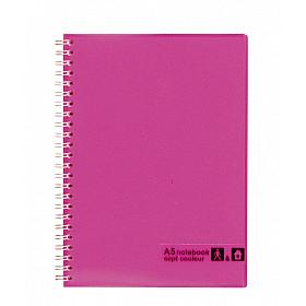 Maruman Sept Couleur Notebook - A5 - Gelinieerd - 80 pagina's - Roze (Japan)