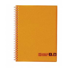Maruman Sept Couleur Notebook - A5 - Gelinieerd - 80 pagina's - Oranje (Japan)