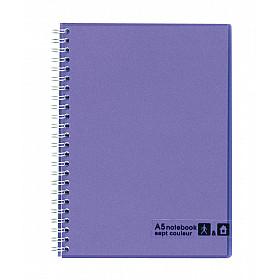Maruman Sept Couleur Notebook - A5 - Gelinieerd - 80 pagina's - Violet (Japan)