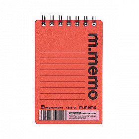 Maruman m.memo Mini Notitieboekje - A7 - Gelinieerd - 50 pagina's - Oranje