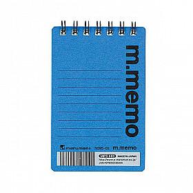 Maruman m.memo Mini Notitieboekje - A7 - Gelinieerd - 50 pagina's - Blauw