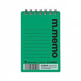Maruman m.memo Mini Notitieboekje - A7 - Gelinieerd - 50 pagina's - Groen