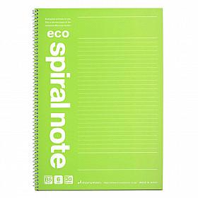 Maruman Spiral Note Eco Notebook - B5 - Gelinieerd 6mm - 30 pagina's - Lichtgroen