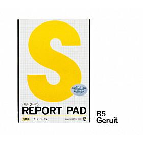 Maruman Report Pad Schrijfblok - B5 - Geruit - 40 Pagina's