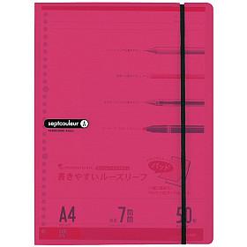 Maruman Septcouleur Loose Leaf Pad Schrijfmap - A4 - Roze