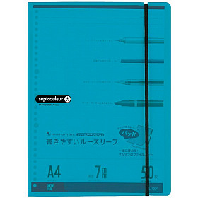 Maruman Septcouleur Loose Leaf Pad Schrijfmap - A4 - Lichtblauw
