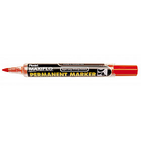 Pentel Maxiflo NLF50 Permanent Marker - Ronde Punt - 1.5 mm - Rood