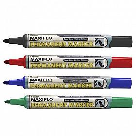 Pentel Maxiflo NLF50 Permanent Marker - Ronde Punt - 1.5 mm - Set van 4