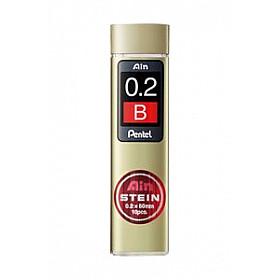 Pentel Ain STEIN C272-B Silicium Vulpotlood vulling - Etui van 10 - 0.2 mm - B