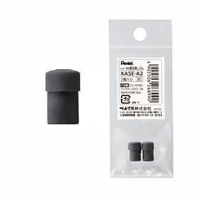 Pentel XASE-A2 Vulpotlood Gum - Zwart - Set van 2