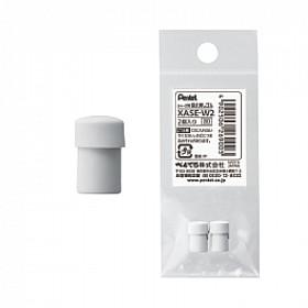 Pentel XASE-W2 Vulpotlood Gum - Wit - Set van 2