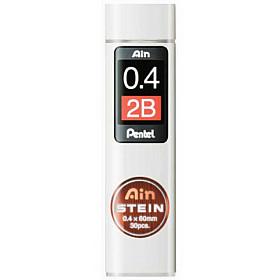 Pentel Ain STEIN C274-2B Silicium Vulpotlood vulling - Etui van 30 - 0.4 mm - 2B