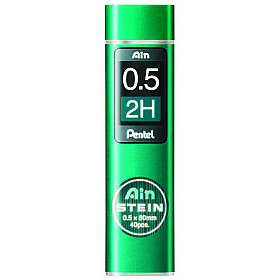 Pentel Ain STEIN C275-2H Silicium Vulpotlood vulling - Etui van 40 - 0.5 mm - 2H