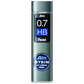 Pentel Ain STEIN C277-HB Silicium Vulpotlood vulling - Etui van 40 - 0.7 mm - HB
