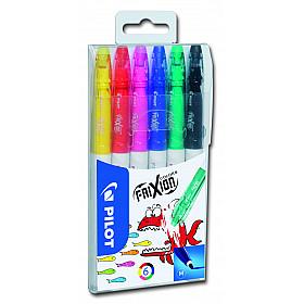 Pilot Frixion Colors Uitgumbare Viltstiften - Set van 6