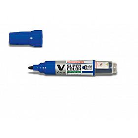 Pilot V Super Color Marker - Rond - Blauw
