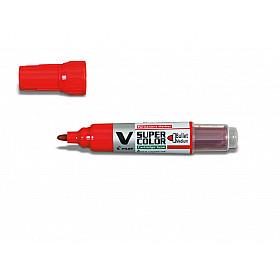 Pilot V Super Color Marker - Rond - Rood