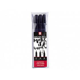 Sakura Pigma Professional Brush Pen - Set van 3