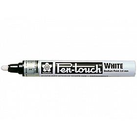 Sakura Pen-Touch Permanent Marker - Medium - 2.0 mm - Wit