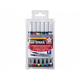 Sakura Pen-Touch Permanent Marker - Fijn - Set van 6