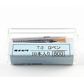 Tachikawa No. 3 - G-Pen Model Nib Penpunt - Set van 10