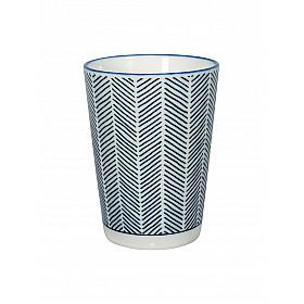 Le Blue de Nîmes Lungo Cup - Herring White motief - 7x10 cm - 230 ml