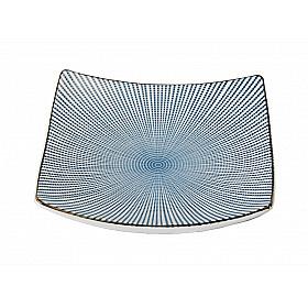 Sendan Tokusa Blue - Bord Vierkant - 22x22 cm