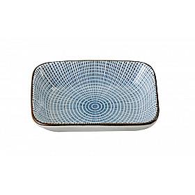 Sendan Tokusa Blue - Schaal Rechthoekig - 9x7 cm