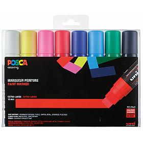 Uni Posca PC-17K Paint Marker - Zeer Breed - Set van 8 (Gratis verzending)