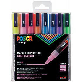 Uni Posca PC-3ML Glitter Paint Marker - Fijn - Set van 8