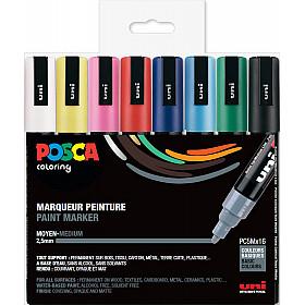 Uni Posca PC-5M Paint Marker - Medium - Set van 16 (Gratis verzending)