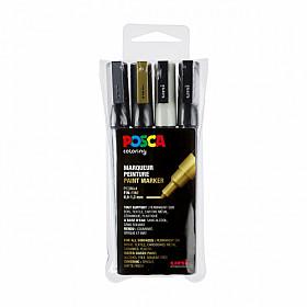Uni Posca PC-3M Paint Marker - Fijn - Set van 4