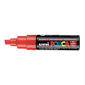 Uni Posca PC-8K Paint Marker - Breed - Fluoriserend Rood